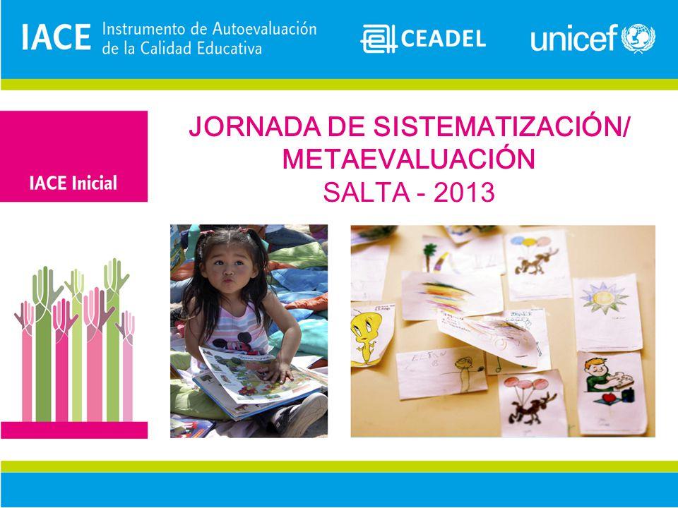 JORNADA DE SISTEMATIZACIÓN/ METAEVALUACIÓN SALTA - 2013