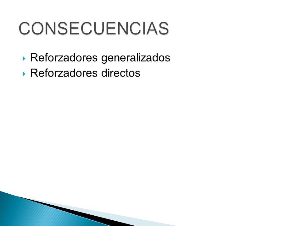 Reforzadores generalizados Reforzadores directos