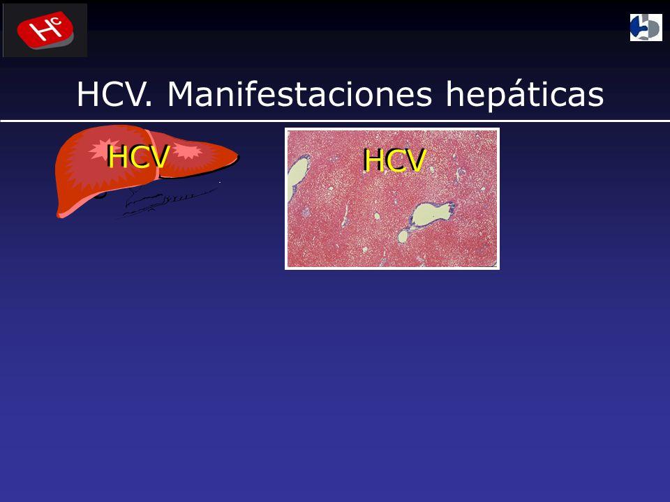 HCV. Manifestaciones hepáticas HCV