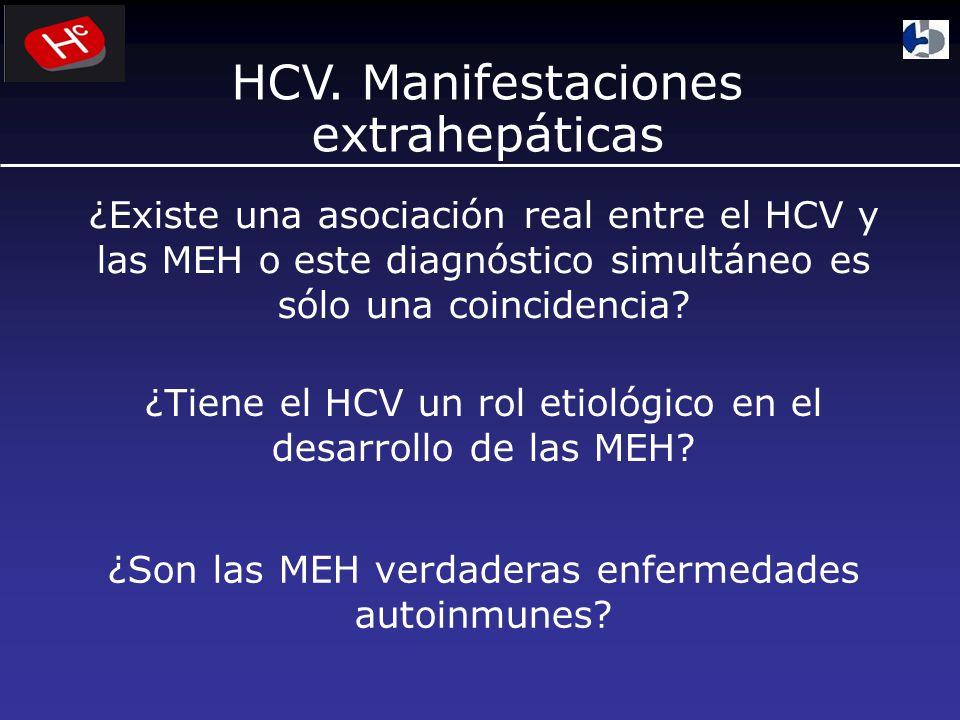 ¿Existe una asociación real entre el HCV y las MEH o este diagnóstico simultáneo es sólo una coincidencia.