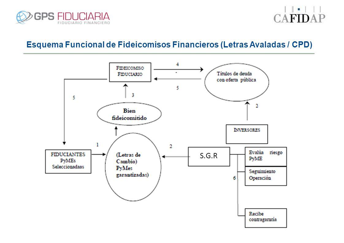 Esquema Funcional de Fideicomisos Financieros (Letras Avaladas / CPD) S.G.R.