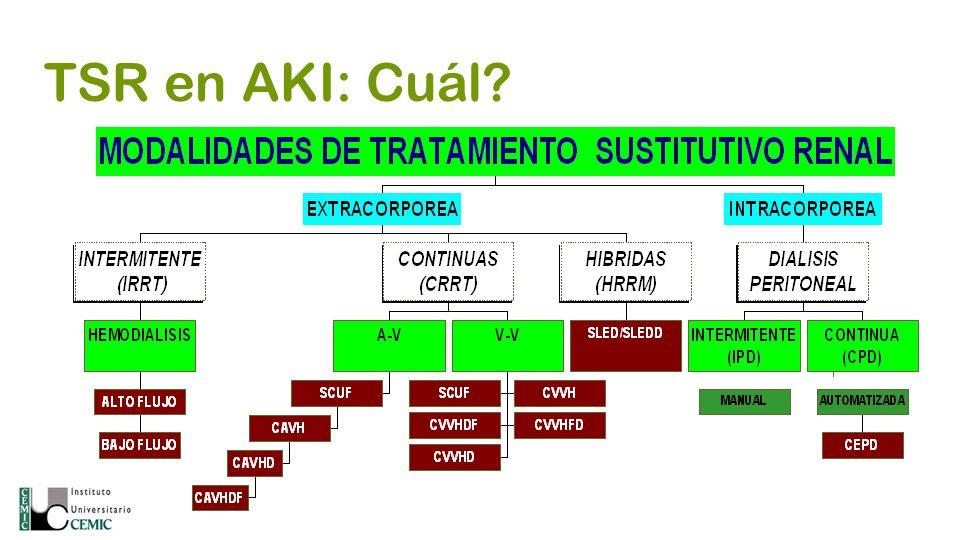 TSR en AKI: Cuál?
