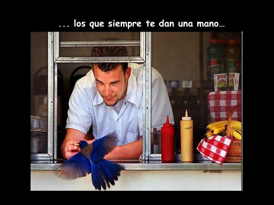 ... los que siempre te dan una mano…