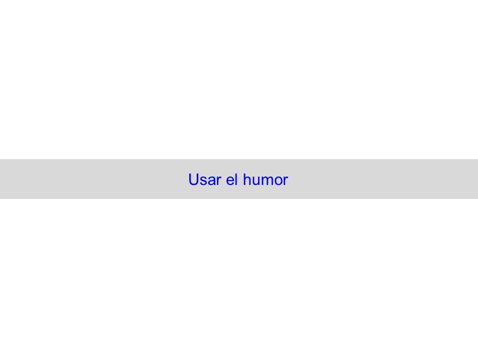 Usar el humor