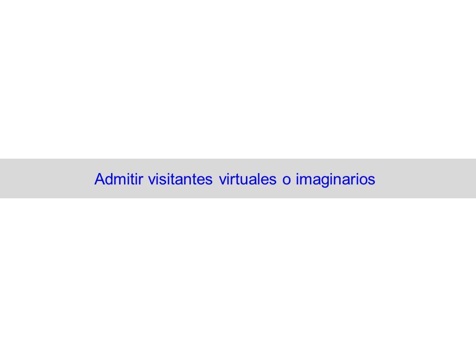 Admitir visitantes virtuales o imaginarios