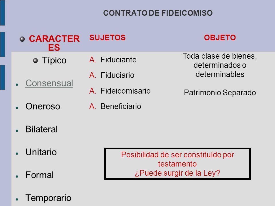 OBLIGACIONES DEL FIDUCIARIO I.