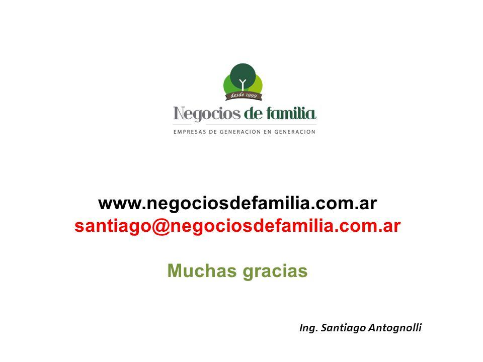 www.negociosdefamilia.com.ar santiago@negociosdefamilia.com.ar Muchas gracias Ing. Santiago Antognolli