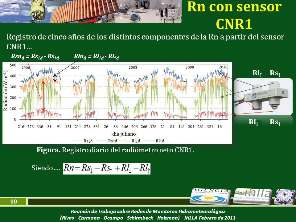 Reunión de Trabajo sobre Redes de Monitoreo Hidrometeorológico (Rivas - Carmona - Ocampo - Schirmbeck - Holzman) – IHLLA Febrero de 2011 10 Figura.