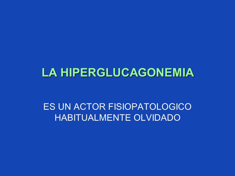 LA HIPERGLUCAGONEMIA ES UN ACTOR FISIOPATOLOGICO HABITUALMENTE OLVIDADO
