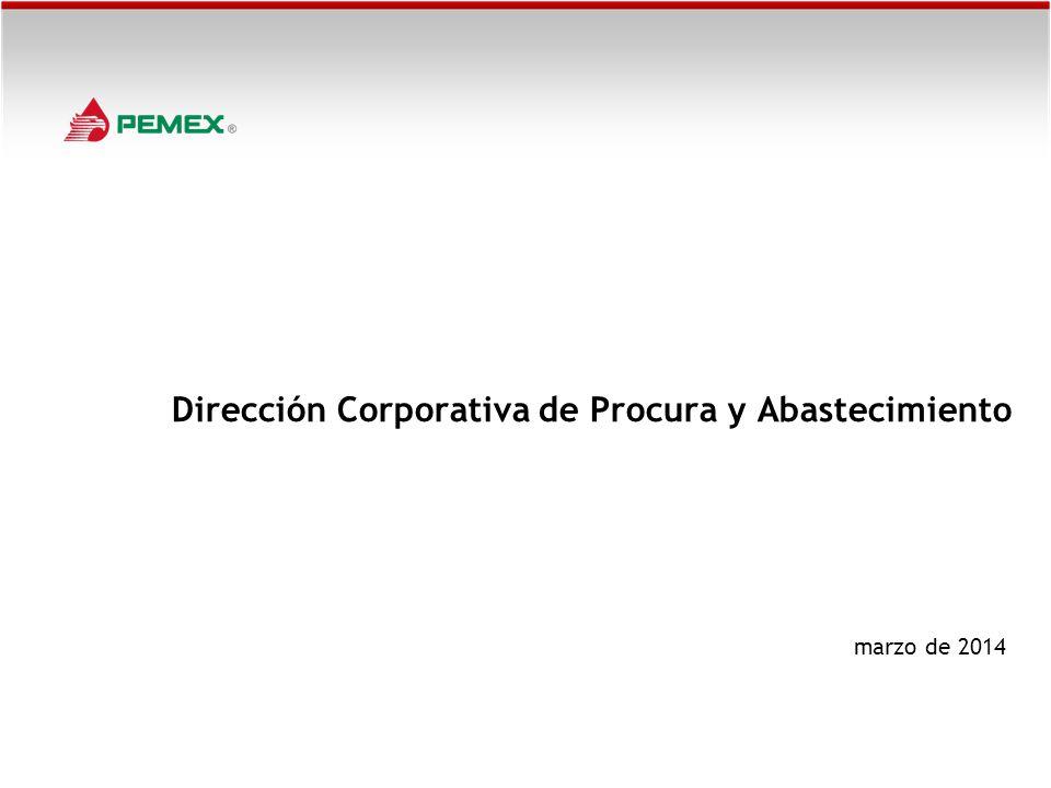 Dirección Corporativa de Procura y Abastecimiento marzo de 2014