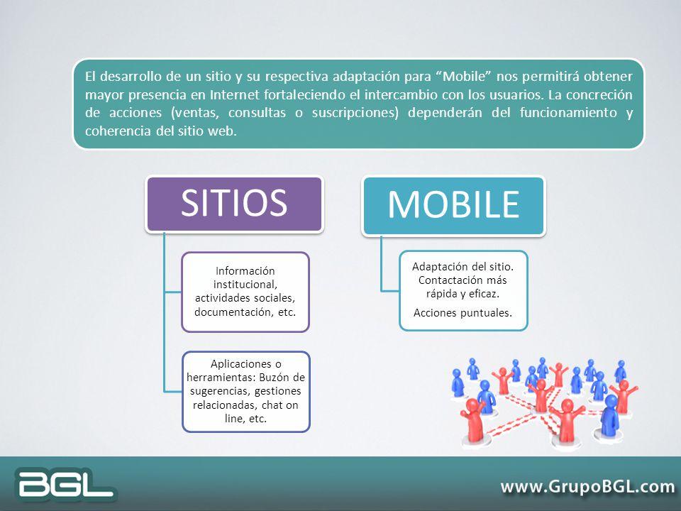 SITIOS Información institucional, actividades sociales, documentación, etc. Aplicaciones o herramientas: Buzón de sugerencias, gestiones relacionadas,