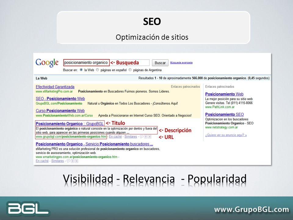 SEO Optimización de sitios