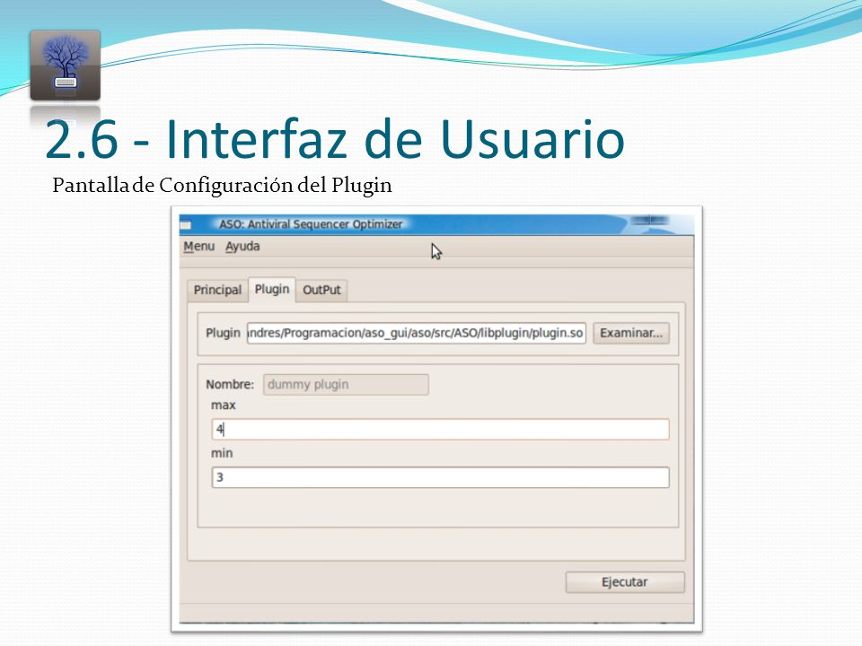 2.6 - Interfaz de Usuario Pantalla de Configuración del Plugin