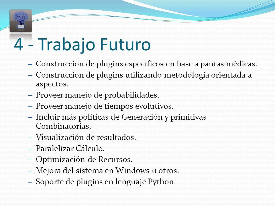 4 - Trabajo Futuro – Construcción de plugins específicos en base a pautas médicas.