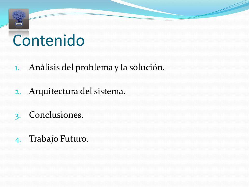 Contenido 1. Análisis del problema y la solución.
