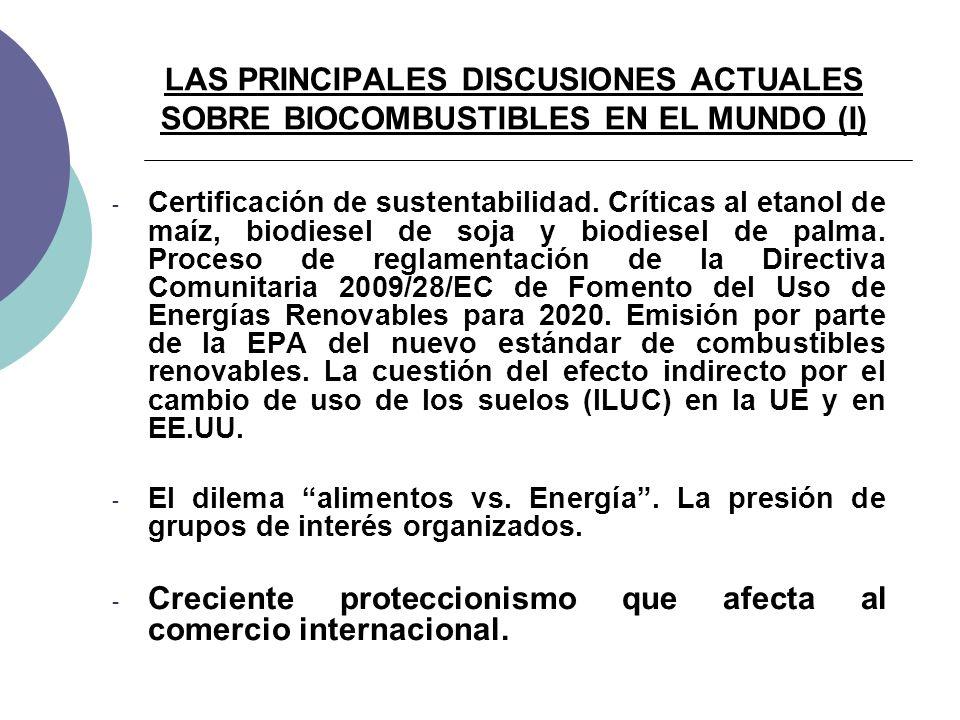 LAS PRINCIPALES DISCUSIONES ACTUALES SOBRE BIOCOMBUSTIBLES EN EL MUNDO (I) - Certificación de sustentabilidad.