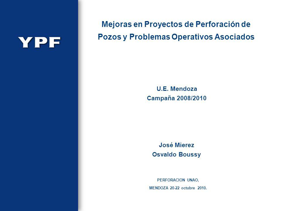 U.E. Mendoza Campaña 2008/2010 PERFORACION UNAO, MENDOZA 20-22 octubre 2010. José Mierez Osvaldo Boussy