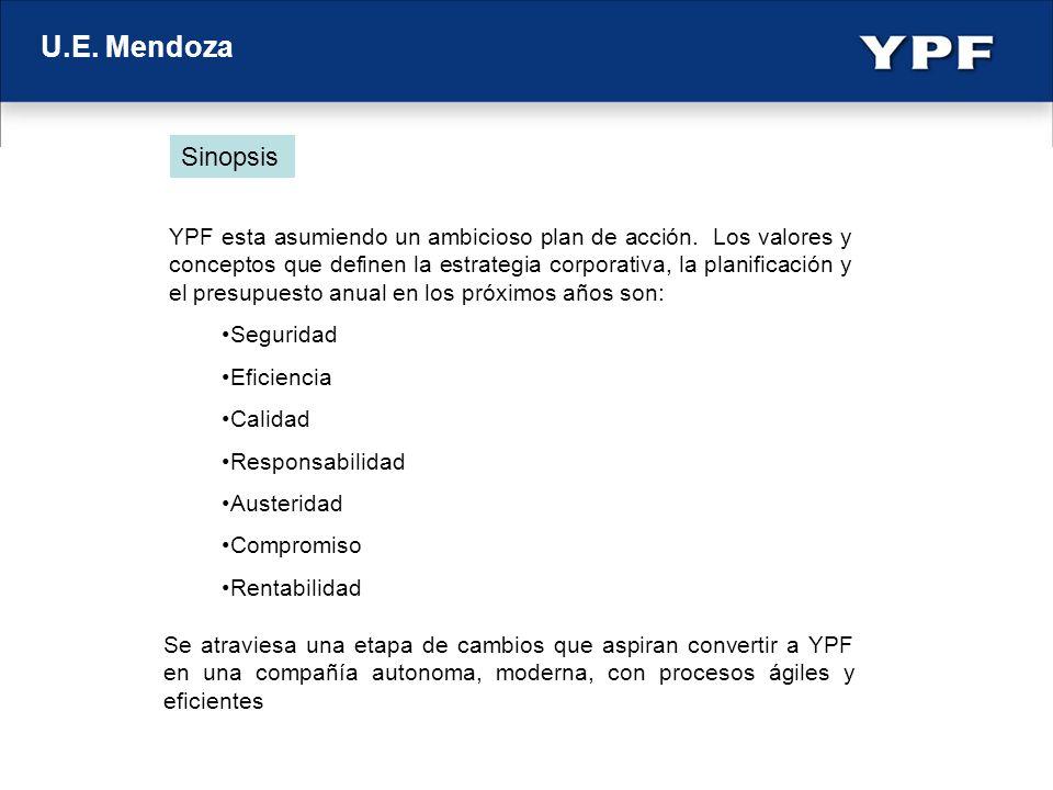 U.E. Mendoza YPF esta asumiendo un ambicioso plan de acción. Los valores y conceptos que definen la estrategia corporativa, la planificación y el pres