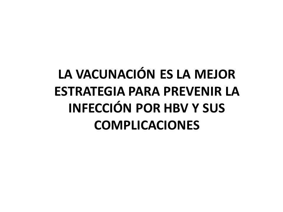 LA VACUNACIÓN ES LA MEJOR ESTRATEGIA PARA PREVENIR LA INFECCIÓN POR HBV Y SUS COMPLICACIONES