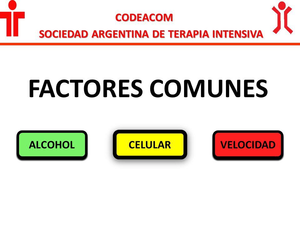 CODEACOM SOCIEDAD ARGENTINA DE TERAPIA INTENSIVA FACTORES COMUNES CELULAR ALCOHOL VELOCIDAD