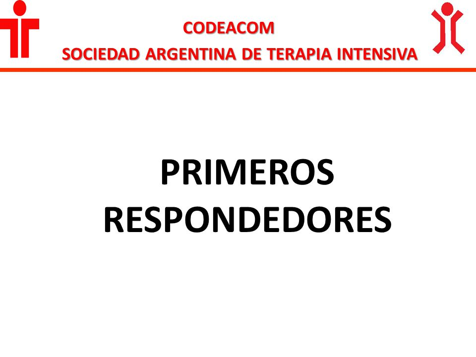 CODEACOM SOCIEDAD ARGENTINA DE TERAPIA INTENSIVA PRIMEROS RESPONDEDORES