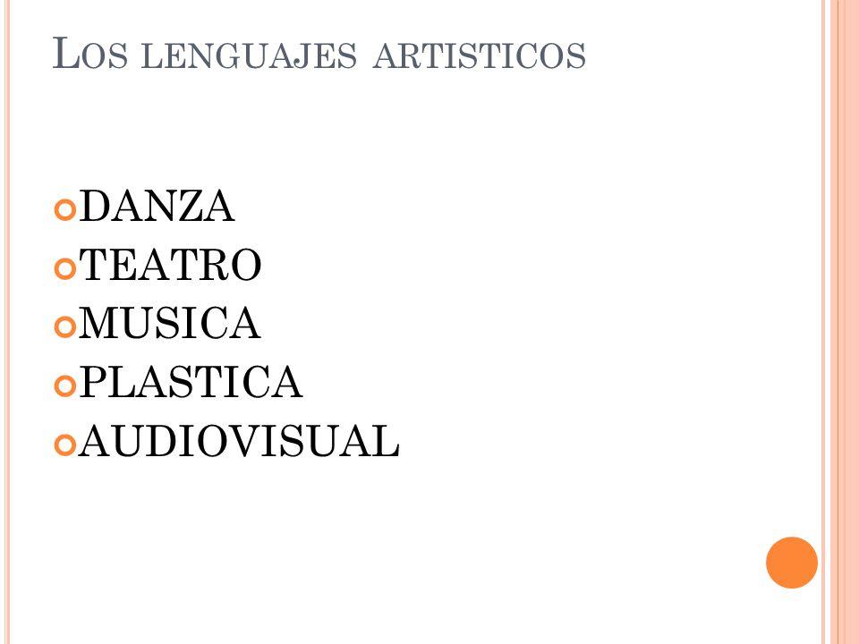 L OS LENGUAJES ARTISTICOS DANZA TEATRO MUSICA PLASTICA AUDIOVISUAL