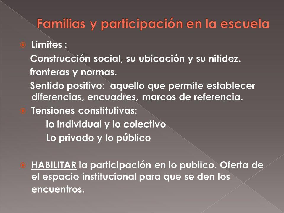 Limites : Construcción social, su ubicación y su nitidez.