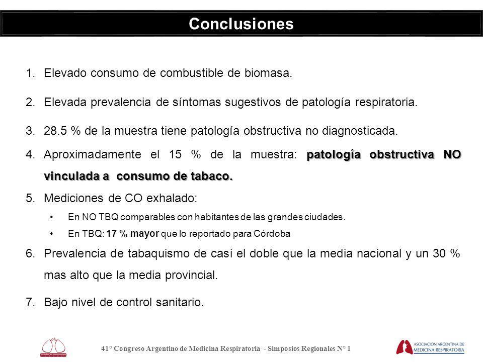 Conclusiones 1.Elevado consumo de combustible de biomasa.