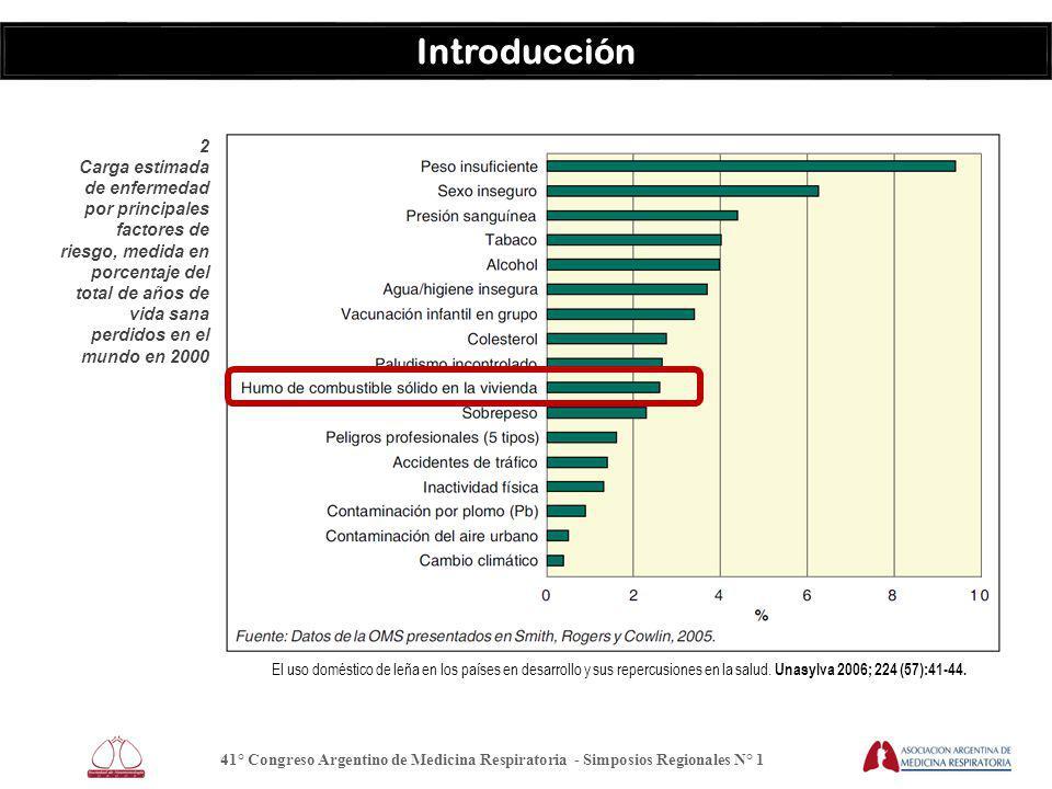 41° Congreso Argentino de Medicina Respiratoria - Simposios Regionales N° 1 Introducción El uso doméstico de leña en los países en desarrollo y sus repercusiones en la salud.