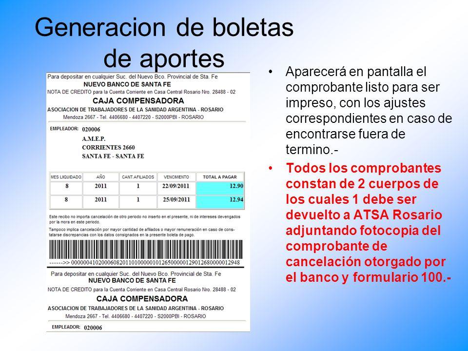 ACLARACION La boleta de aporte extraordinario se obtiene mediante el ingreso a APORTE PATRONAL, haciendo clic en casillero Ap.