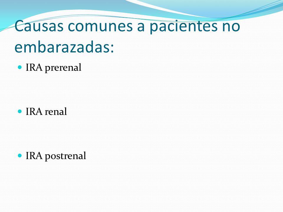 Presencia de enfermedad renal crónica no diagnosticada hasta ese momento, reagudizada en el contexto del desprendimiento de placenta normoinserta y la hemorragia.