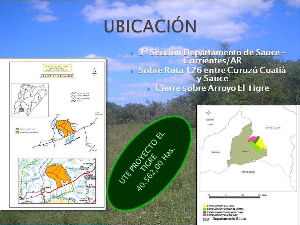 3ª Sección Departamento de Sauce – Corrientes Sobre Ruta 126 entre Curuzú Cuatiá y Sauce Cierre sobre Arroyo El Tigre