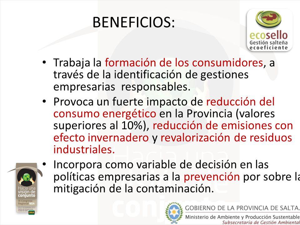 Características de nuestro ecosello: Es el primer Ecoetiquetado en Argentina y segundo en Latinoamérica.