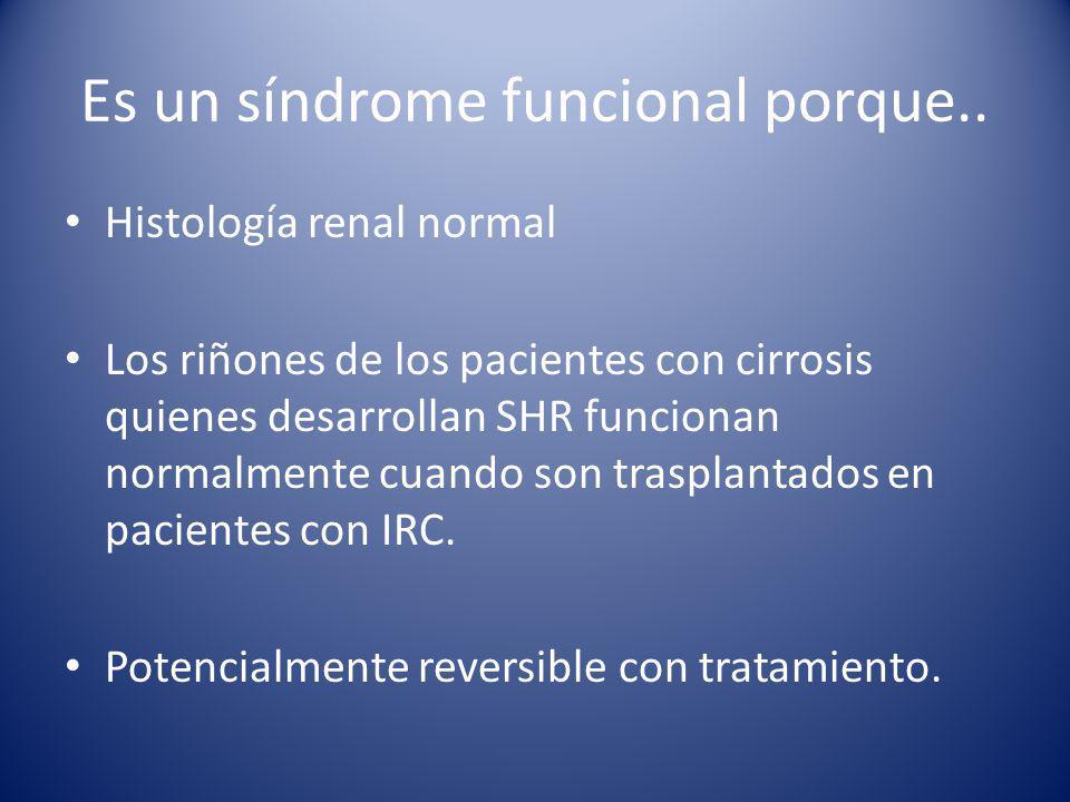 Es un síndrome funcional porque..