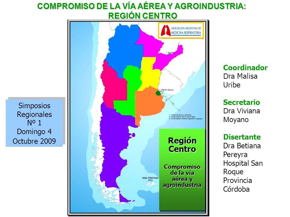 Simposios Regionales Nº 1 Domingo 4 Octubre 2009 Simposios Regionales Nº 1 Domingo 4 Octubre 2009 Coordinador Dra Malisa Uribe Secretario Dra Viviana
