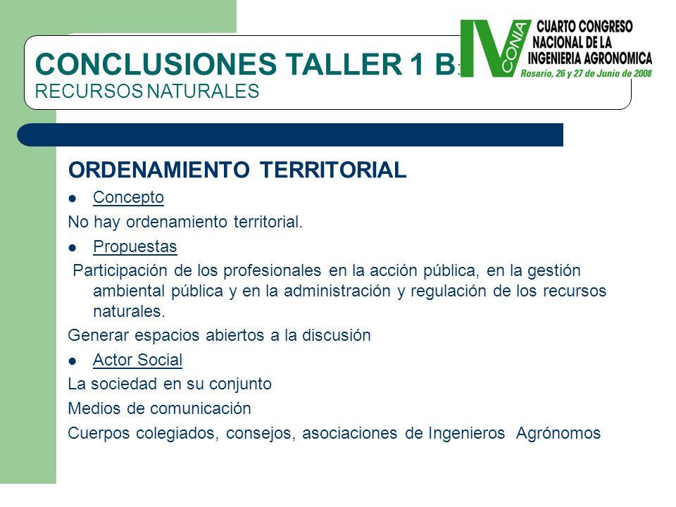 ORDENAMIENTO TERRITORIAL Concepto No hay ordenamiento territorial.