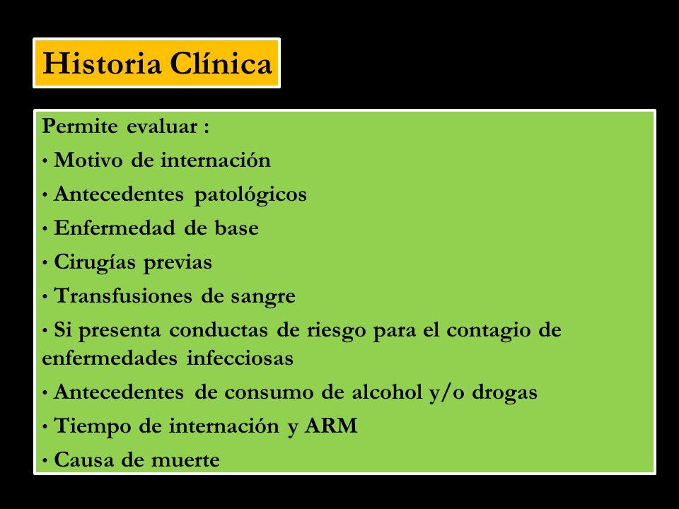 Examen Físico Estado actual del paciente Apariencia general, estado nutricional Tatuajes, piercings, lesiones sugestivas de administración de fármacos endovenosos.