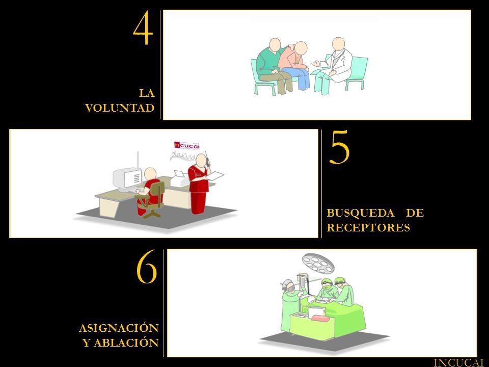 LA VOLUNTAD BUSQUEDA DE RECEPTORES ASIGNACIÓN Y ABLACIÓN INCUCAI