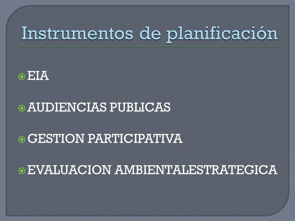 EIA AUDIENCIAS PUBLICAS GESTION PARTICIPATIVA EVALUACION AMBIENTALESTRATEGICA