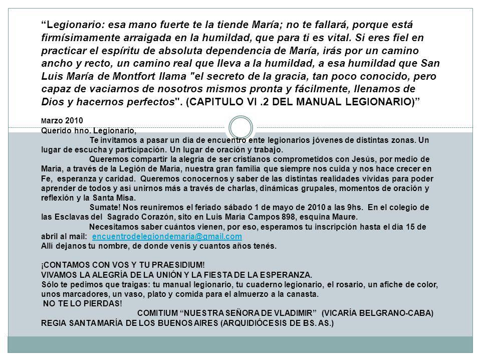 TUVIMOS LA ALEGRÍA INMENSA DE RECIBIR A 250 LEGIONARIOS DE TODAS PARTES