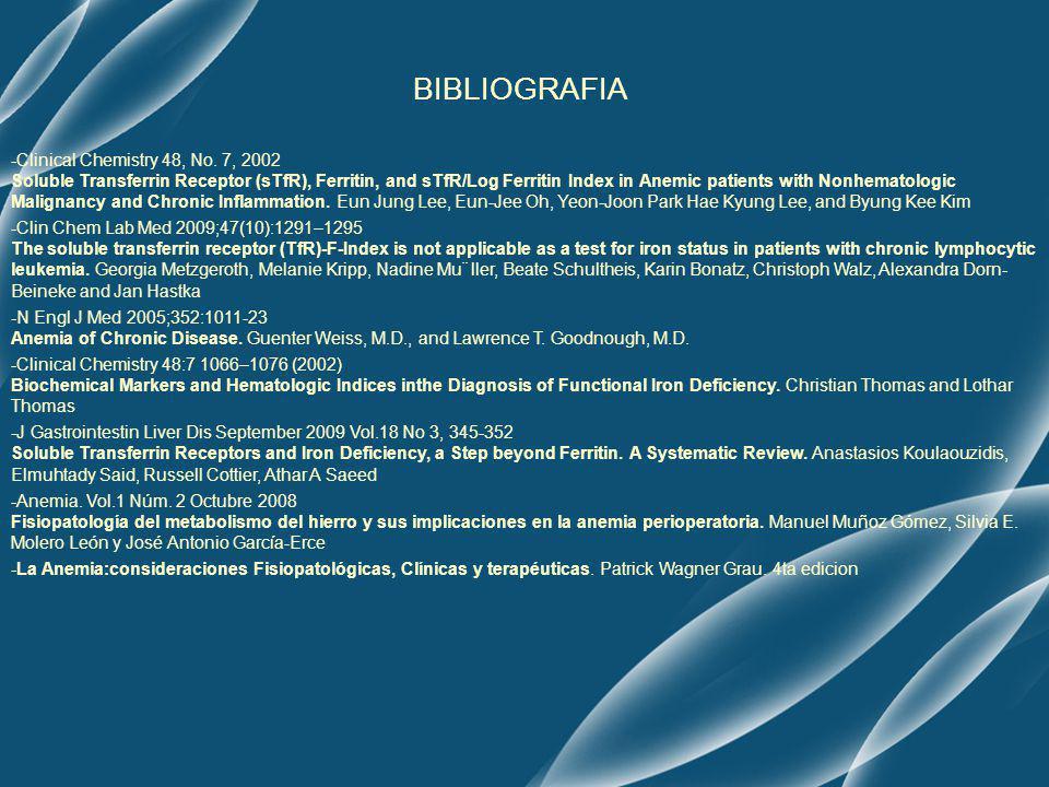 BIBLIOGRAFIA -Clinical Chemistry 48, No.