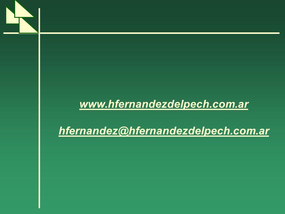 www.hfernandezdelpech.com.ar hfernandez@hfernandezdelpech.com.ar