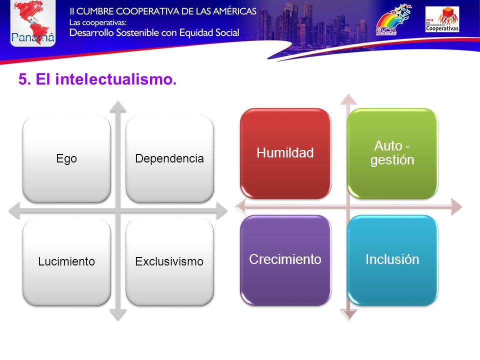5. El intelectualismo.