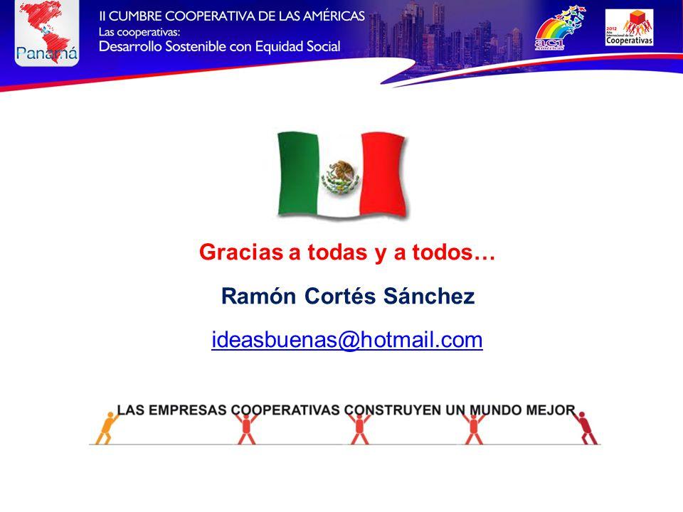 Gracias a todas y a todos… Ramón Cortés Sánchez ideasbuenas@hotmail.com