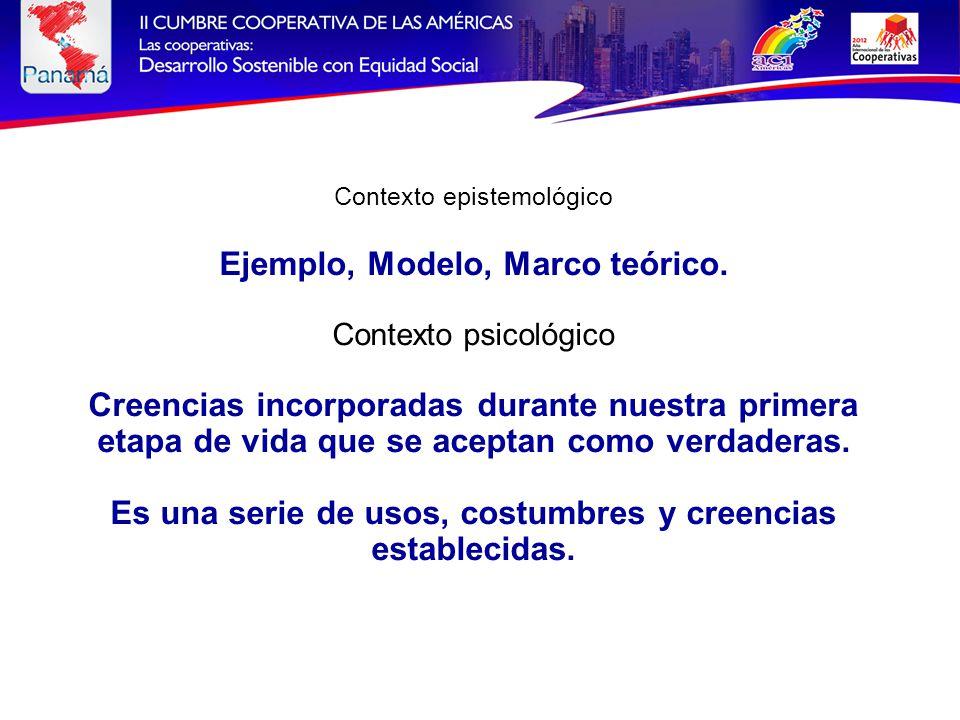 Contexto epistemológico Ejemplo, Modelo, Marco teórico.