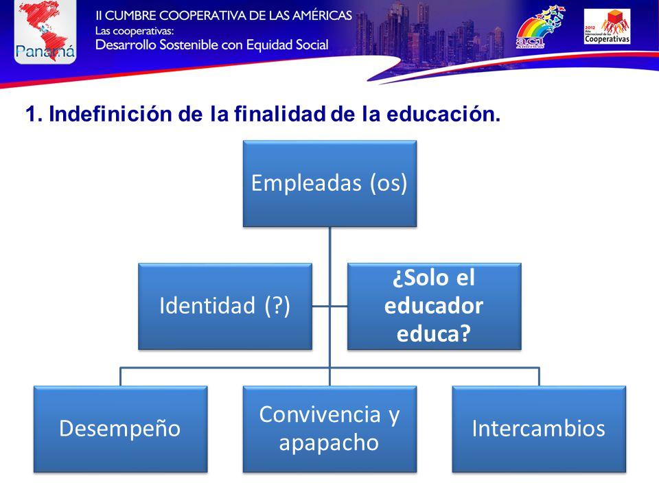 Empleadas (os) Desempeño Convivencia y apapacho Intercambios Identidad ( ) ¿Solo el educador educa.