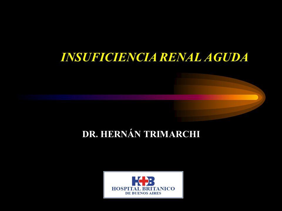 INSUFICIENCIA RENAL AGUDA DR. HERNÁN TRIMARCHI