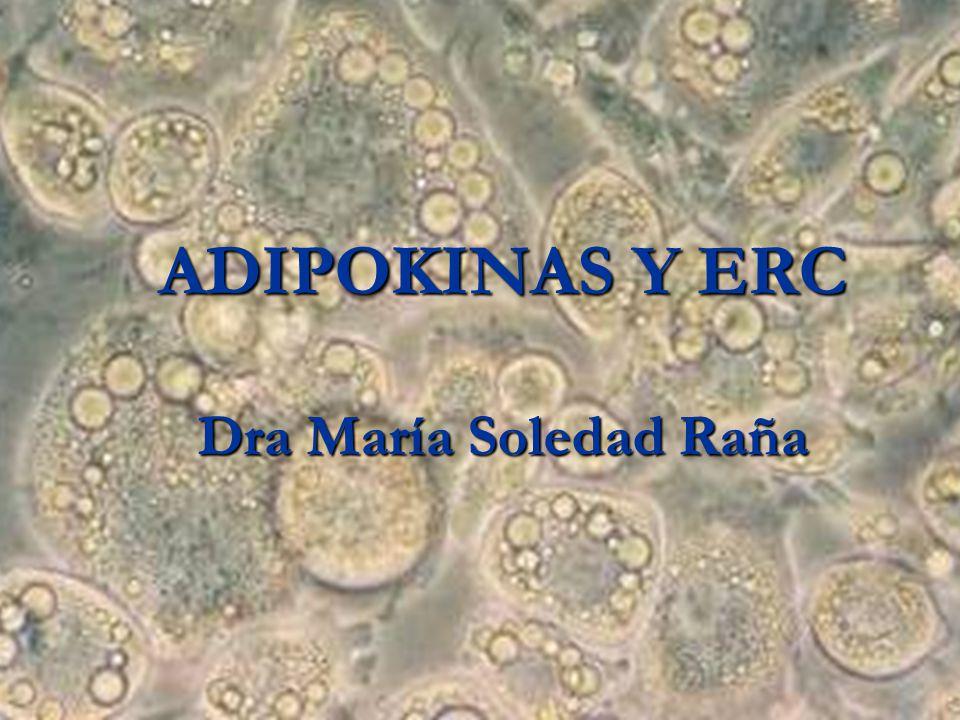 Adiponectina La adiponectina inhibe la adhesión de monocitos mediada por TNF, la expresión de móléculas de adhesión in vitro y modula la respuesta endotelial al estímulo inflamatorio La adiponectina inhibe la adhesión de monocitos mediada por TNF, la expresión de móléculas de adhesión in vitro y modula la respuesta endotelial al estímulo inflamatorio En pacientes con eventos cardiovasculares agudos, los niveles de adiponectina son menores que en pacientes sin eventos En pacientes con eventos cardiovasculares agudos, los niveles de adiponectina son menores que en pacientes sin eventos Reducción del 3% del riesgo por cada aumento de 1 /ml de adiponectina en plasma Reducción del 3% del riesgo por cada aumento de 1 /ml de adiponectina en plasma Efecto Protector a Nivel Cardiovascular