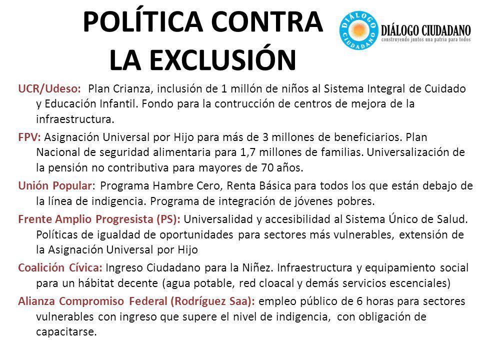 POLÍTICA CONTRA LA EXCLUSIÓN UCR/Udeso: Plan Crianza, inclusión de 1 millón de niños al Sistema Integral de Cuidado y Educación Infantil.