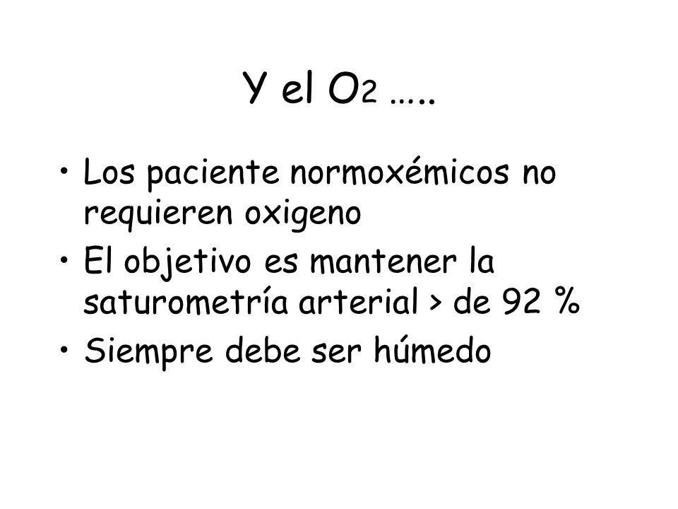 Y el O 2 …..